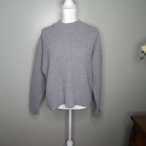 Everlane The Wool-Cashmere Waffle Square Crew Sz L